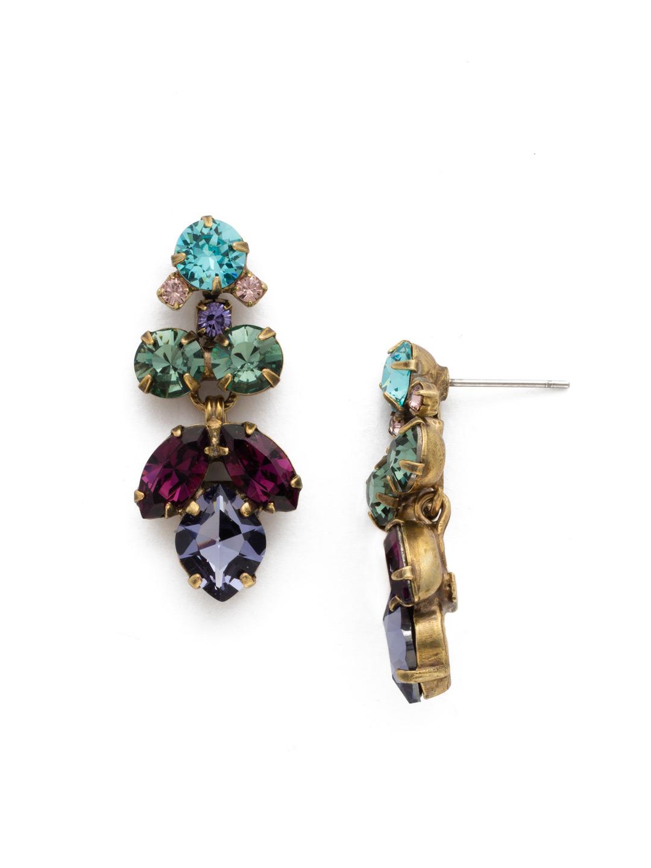 Petite Crystal Lotus Flower Earring In Jewel Tone Sorrelli Jewelry