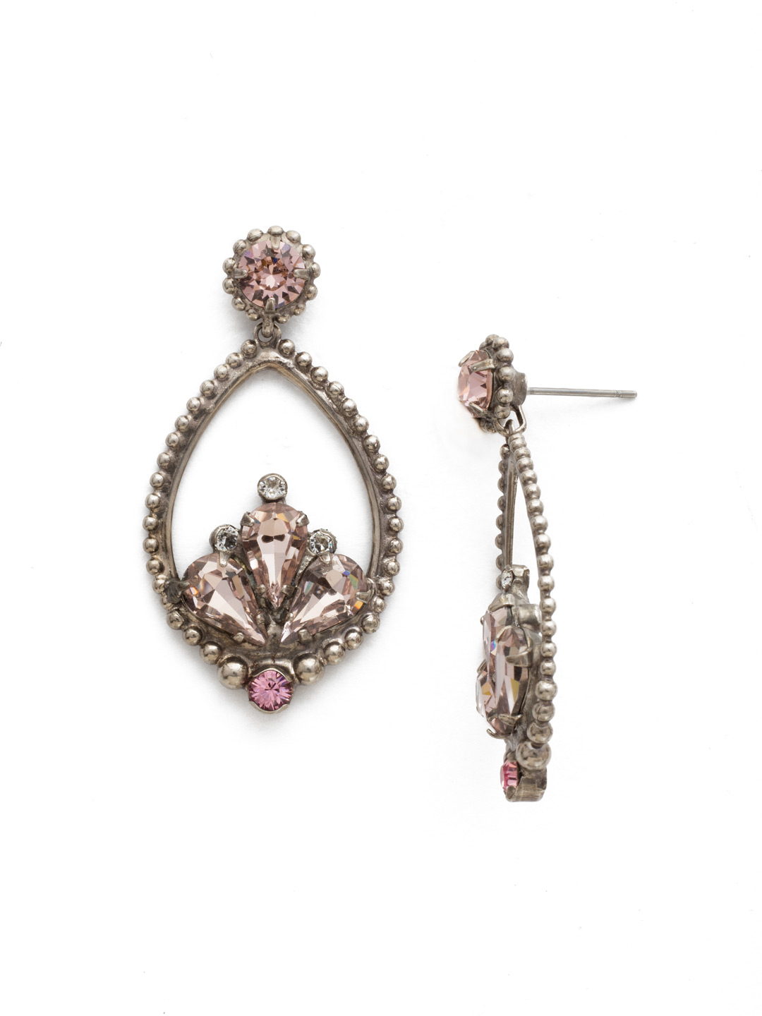 Arabesque Earring in Crystal Rose