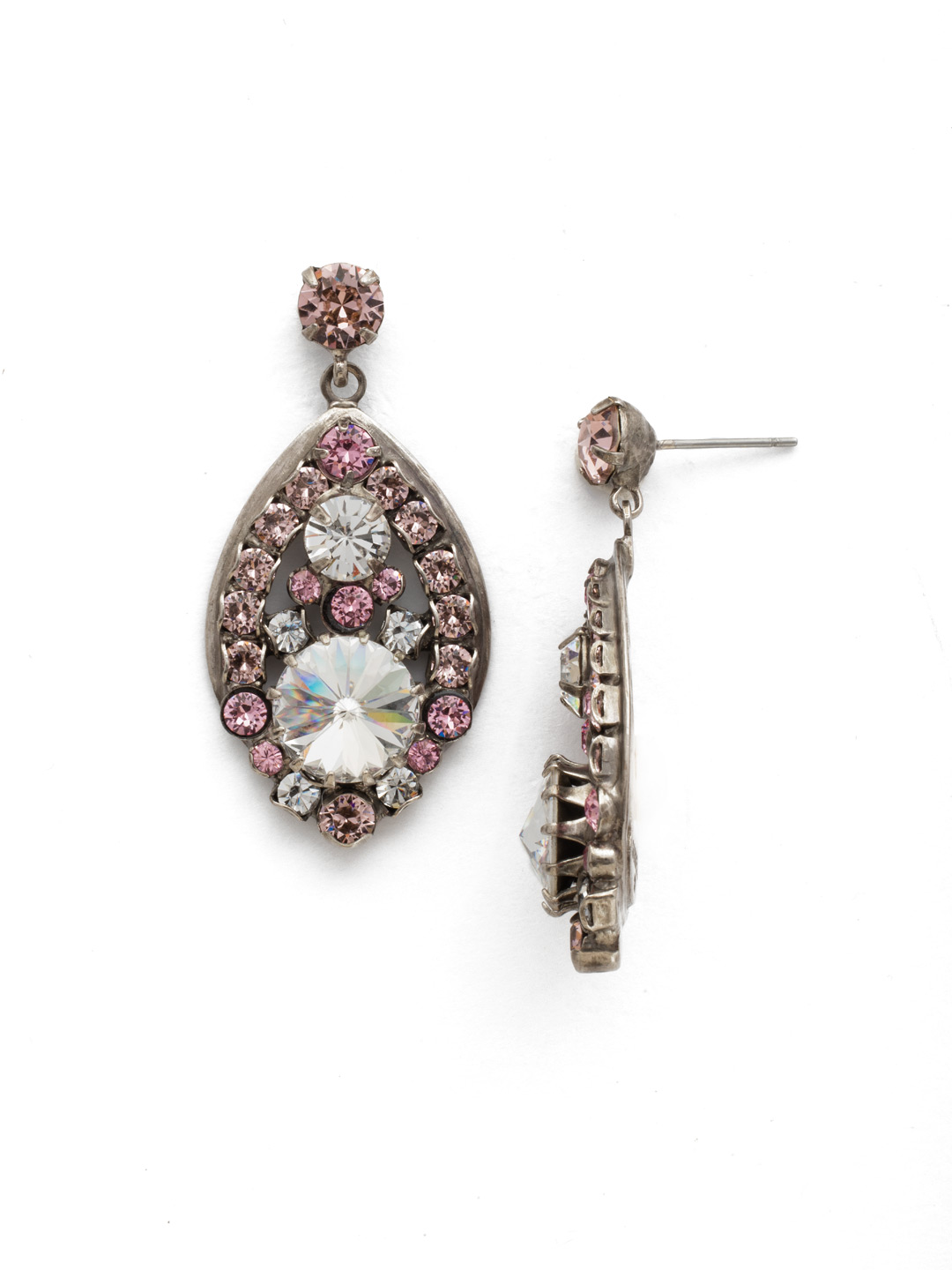 Crowning Glory Earring in Crystal Rose