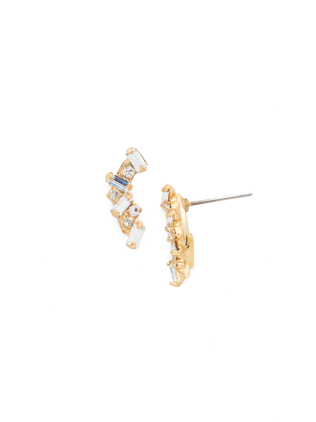 cf1f63d4145 Dotted Line Ear Crawler - Lisa Oswald Collection in Clear Crystal ...
