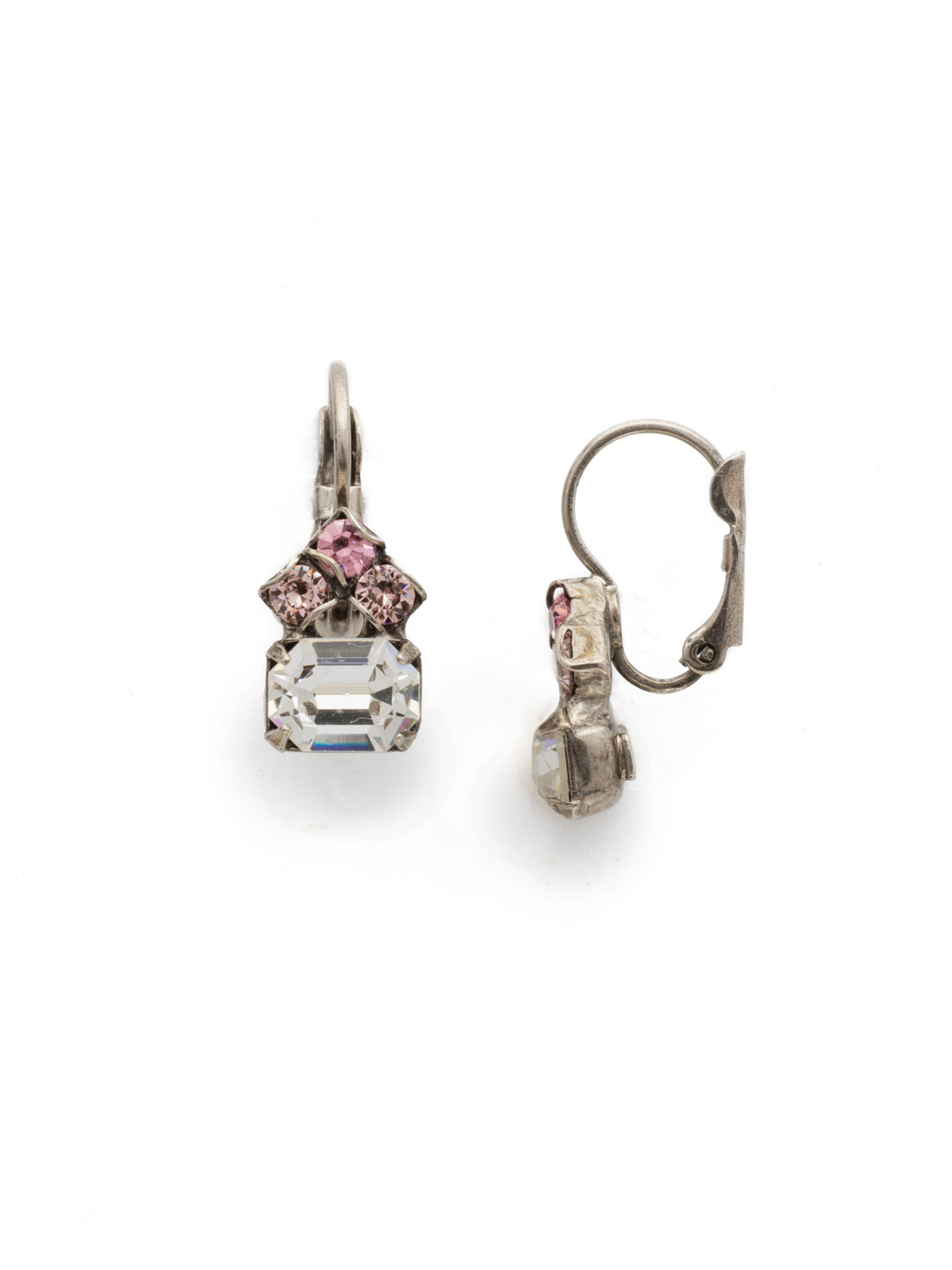 Three's Company Earring in Crystal Rose