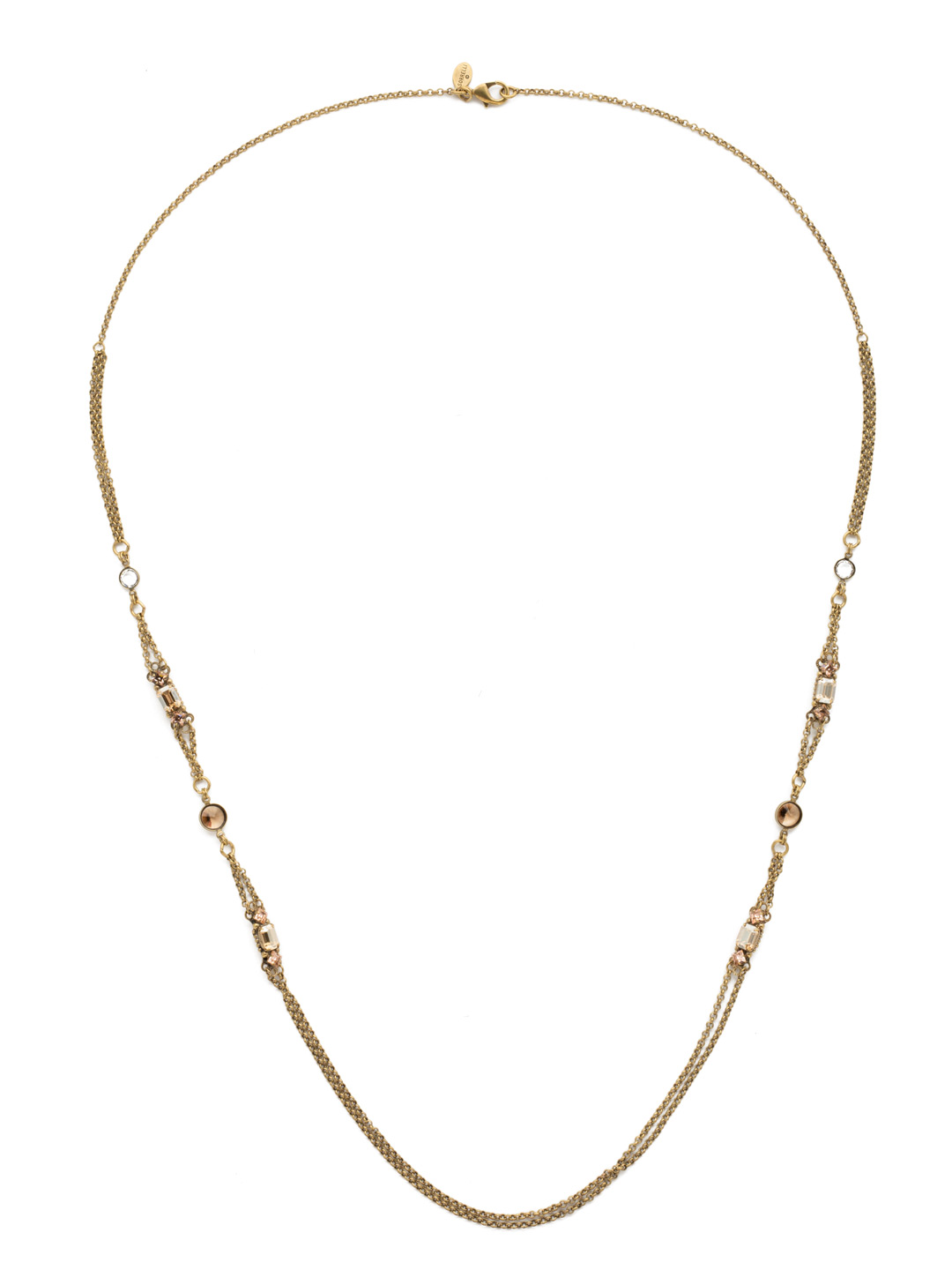 fe07f1540e Delicate Vintage Inspired Long Strand Necklace in Raw Sugar ...