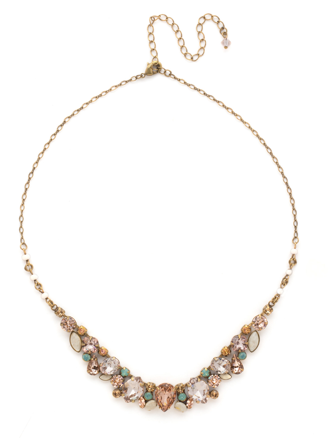 Multi Stone Majestic Statement Necklace Clearance In
