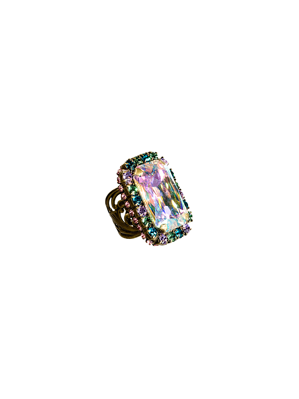 c909e0bdd Swarovski Crystal Bold Ambition Statement Cocktail Ring in Smitten ...