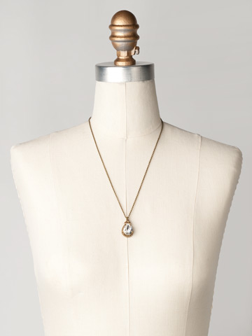 Sweet Sparkle Necklace in Antique Gold-tone Neutral Territory displayed on a necklace bust