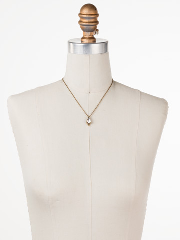Alina Necklace in Antique Gold-tone Crystal displayed on a necklace bust