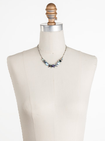 Laurel Necklace in Antique Silver-tone Moonlit Shores displayed on a necklace bust