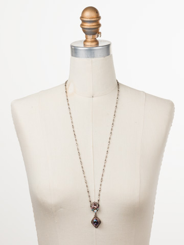 Giulia Pendant Necklace in Antique Silver-tone Stargazer displayed on a necklace bust