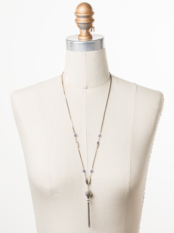 Constantia Long-Strand Necklace in Antique Silver-tone Stargazer displayed on a necklace bust