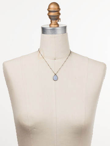 Harah Pendant Necklace in Antique Silver-tone Glacier displayed on a necklace bust