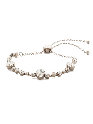 Sedge Slider Bracelet in Antique Silver-tone Crystal