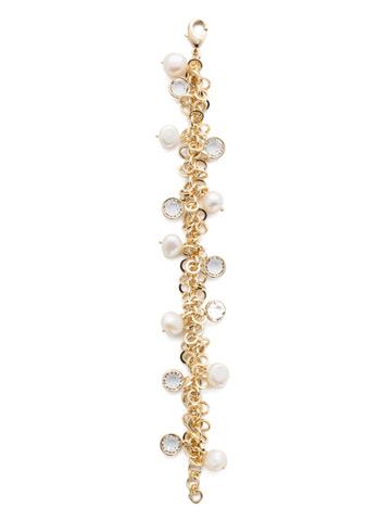 Aura Classic Bracelet in Bright Gold-tone Modern Pearl