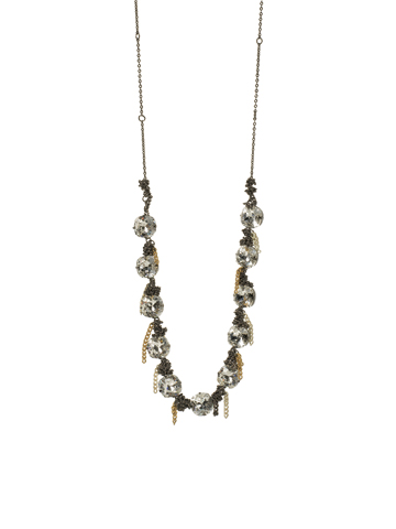 MiMi Necklace in Mixed Metal Crystal