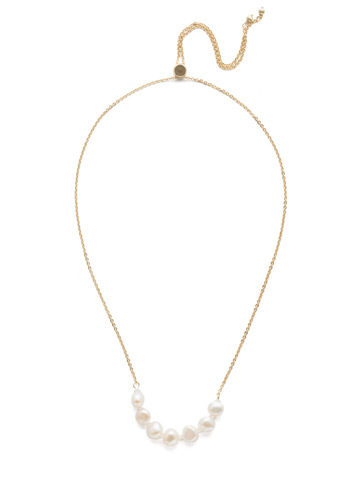 Celeste Classic Necklace in Bright Gold-tone Modern Pearl