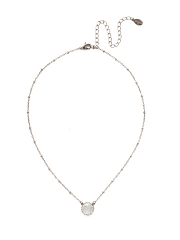 Isabella Pendant in Antique Silver-tone Modern Pearl