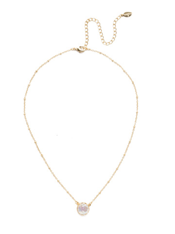 Isabella Pendant in Bright Gold-tone Modern Pearl