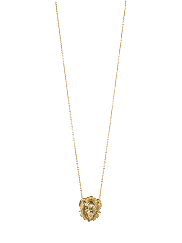 King Of The Jungle Small Pendant in Bright Gold-tone Redux