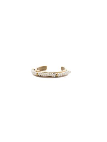 Nila Ring in Antique Gold-tone Modern Pearl