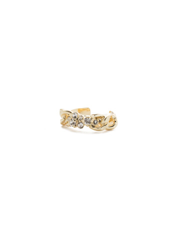 Crew Ring in Bright Gold-tone Crystal