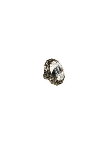 Crystal Vault Ring in Gun Metal EOS