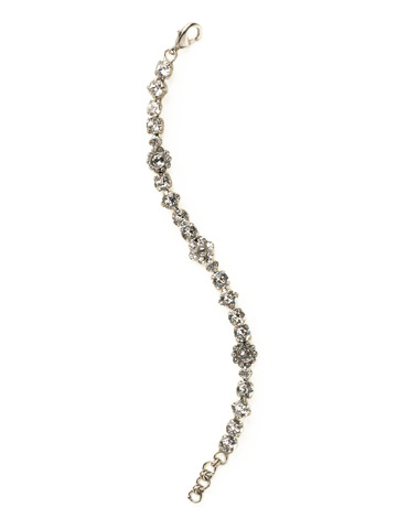 Classic Crystal Floral Bracelet in Antique Silver-tone Crystal