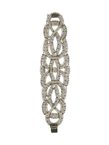 Bracelet in Antique Silver-tone White Bridal