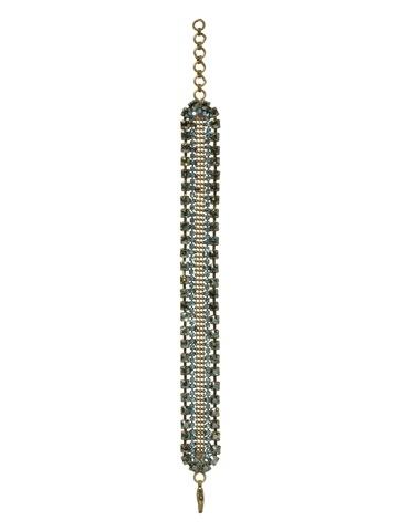Sorrelli Bracelet in Antique Gold-tone Aqua Bubbles