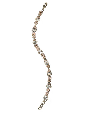 Classic Clover Bracelet in Antique Silver-tone Crystal Clear