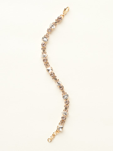 Classic Clover Bracelet in Bright Gold-tone Crystal Clear