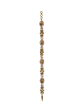 Almond Crystal Bracelet in Antique Gold-tone Raw Sugar