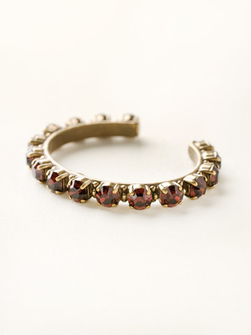 Riveting Romance Cuff Bracelet Cuff Bracelet in Antique Gold-tone Burgundy