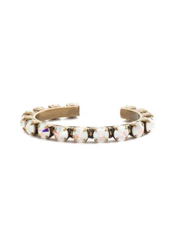 Riveting Romance Cuff Bracelet Cuff Bracelet in Antique Gold-tone Crystal Aurora Borealis