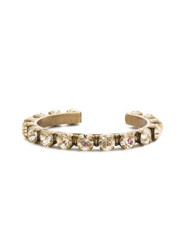 Riveting Romance Cuff Bracelet Cuff Bracelet in Antique Gold-tone Crystal Champagne