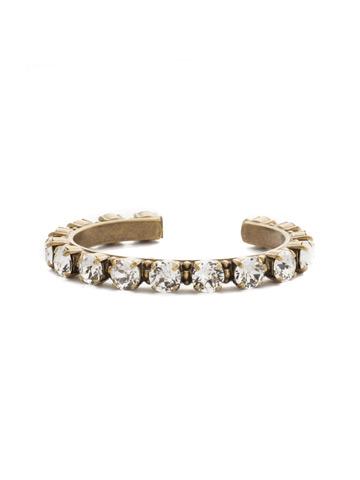 Riveting Romance Cuff Bracelet Cuff Bracelet in Antique Gold-tone Crystal