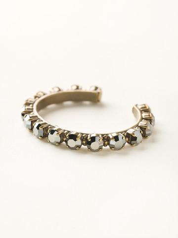 Riveting Romance Cuff Bracelet in Antique Gold-tone Hematite