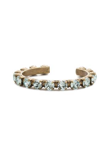 Riveting Romance Cuff Bracelet Cuff Bracelet in Antique Gold-tone Light Aqua