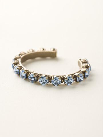 Riveting Romance Cuff Bracelet Cuff Bracelet in Antique Gold-tone Light Sapphire