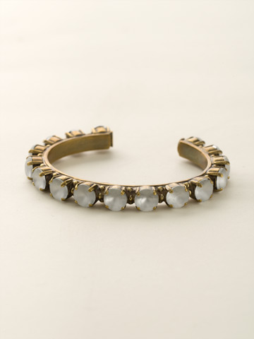 Riveting Romance Cuff Bracelet Cuff Bracelet in Antique Gold-tone Matte Crystal