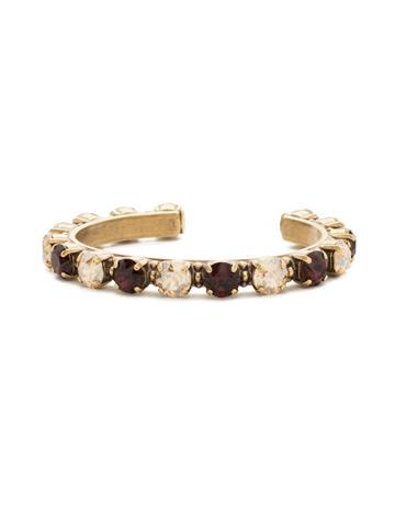 Riveting Romance Cuff Bracelet Cuff Bracelet in Antique Gold-tone Mighty Maroon