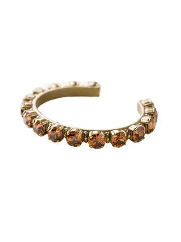 Riveting Romance Cuff Bracelet Cuff Bracelet in Antique Gold-tone Smoke Topaz