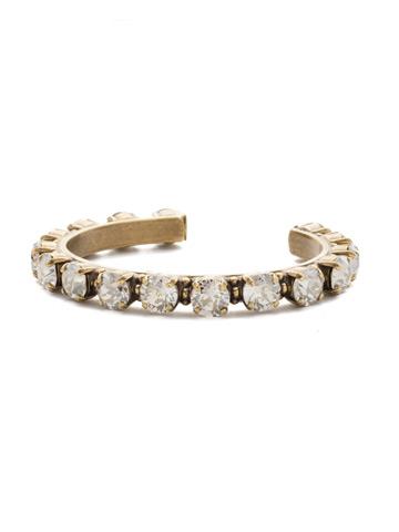 Riveting Romance Cuff Bracelet Cuff Bracelet in Antique Gold-tone Silver Shade