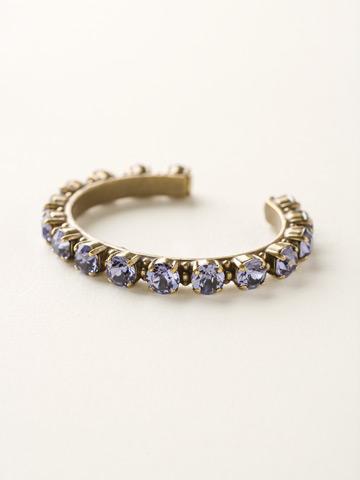Riveting Romance Cuff Bracelet Cuff Bracelet in Antique Gold-tone Tanzanite
