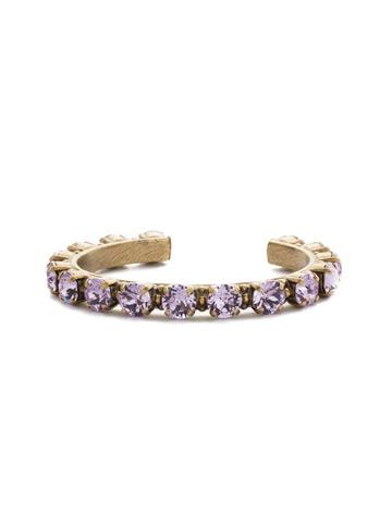 Riveting Romance Cuff Bracelet Cuff Bracelet in Antique Gold-tone Violet