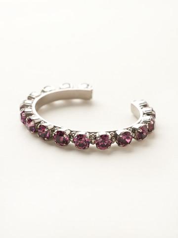 Riveting Romance Cuff Bracelet Cuff Bracelet in Antique Silver-tone Amethyst