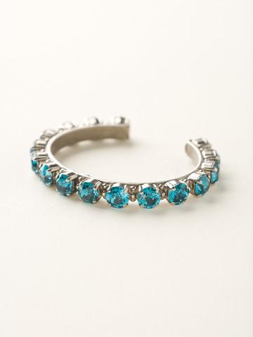 Riveting Romance Cuff Bracelet Cuff Bracelet in Antique Silver-tone Blue Topaz