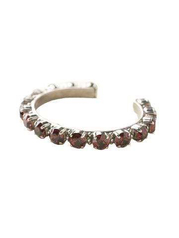 Riveting Romance Cuff Bracelet Cuff Bracelet in Antique Silver-tone Burgundy