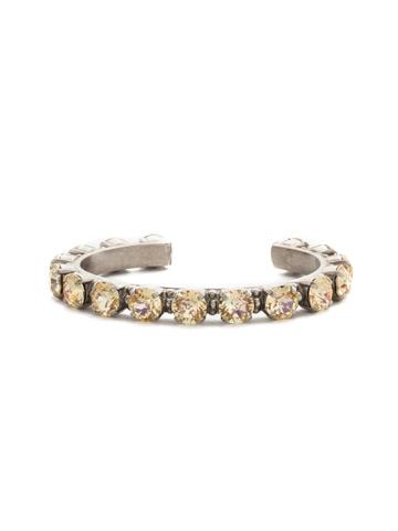 Riveting Romance Cuff Bracelet Cuff Bracelet in Antique Silver-tone Crystal Champagne