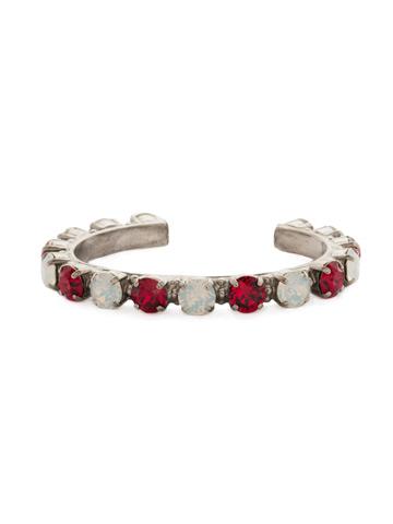 Riveting Romance Cuff Bracelet Cuff Bracelet in Antique Silver-tone Crimson Pride