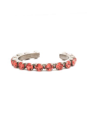 Riveting Romance Cuff Bracelet Cuff Bracelet in Antique Silver-tone Coral