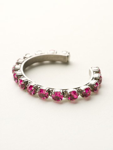 Riveting Romance Cuff Bracelet Cuff Bracelet in Antique Silver-tone Fuschia